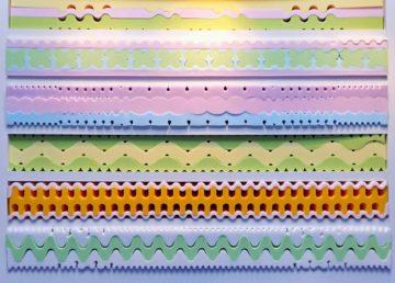 Kaltschaummatratzen in unterschiedlichen Farben und Formen